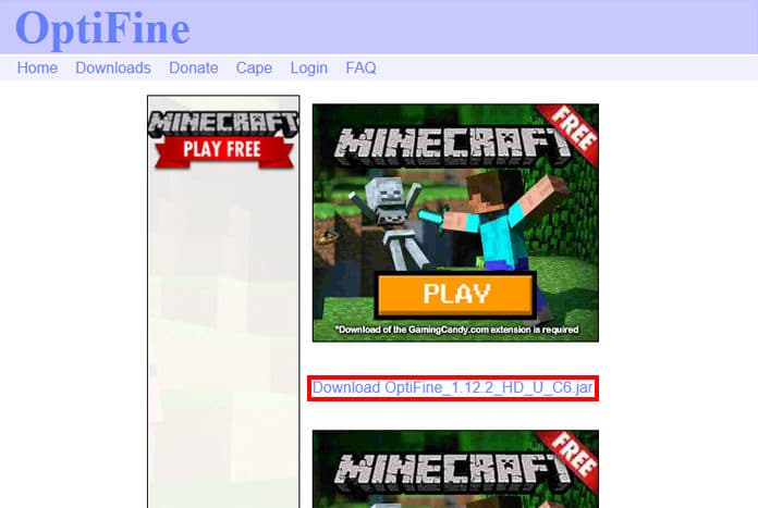 Step 5 - How To Install Optifine in Minecraft